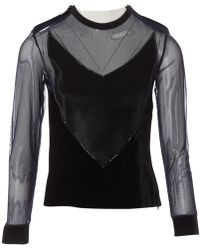 Givenchy - Black Polyester Top - Lyst