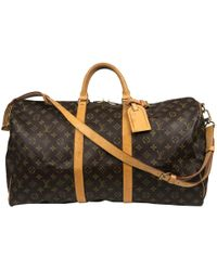 899d1f47316 Louis Vuitton - Sac week-end Keepall en toile - Lyst