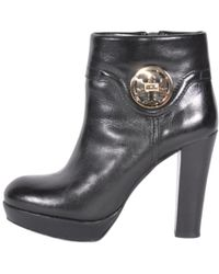 d52f115dc Lyst - Tory Burch Foster Leather Boots in Black