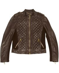 Michael Kors - Leather Biker Jacket - Lyst