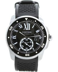 Cartier - Pre-owned Black Steel Watches - Lyst