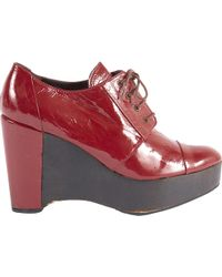 Sonia Rykiel - Red Patent Leather Lace Ups - Lyst
