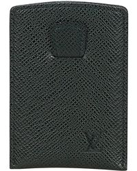 Louis Vuitton - Black Leather Small Bag, Wallets & Cases - Lyst