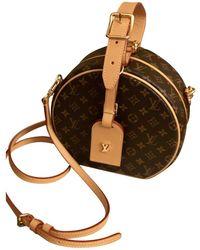 Louis Vuitton - Boîte Chapeau Souple Brown Cloth Handbag - Lyst
