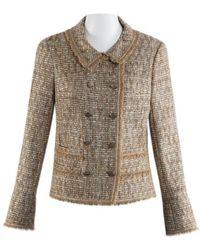 Chanel Vest en Tweed Doré - Multicolore