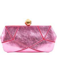 a0e2326726ed Lyst - Roger Vivier Prismick Suede Pochette Bag in Pink