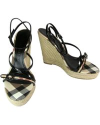 Burberry - Pre-owned Leather Sandal - Lyst