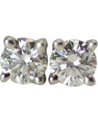 Tiffany & Co. - Platinum Earrings - Lyst