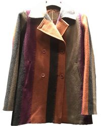 Etro - Pre-owned Wool Peacoat - Lyst