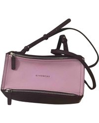 9aa4887680d4 Lyst - Givenchy Pandora Box Chain Leather Shoulder Bag in Pink