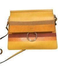Chloé - Faye Multicolour Leather Handbag - Lyst