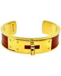 Hermès - Vintage Kelly Yellow Metal Bracelets - Lyst