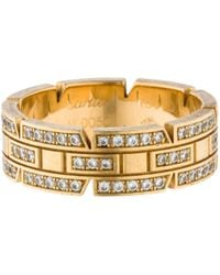 Cartier - Pre-owned Tank Française Yellow Yellow Gold Rings - Lyst