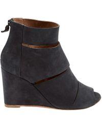 Hermès - Pre-owned Anthracite Suede Heels - Lyst