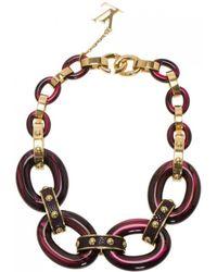 Louis Vuitton - Burgundy Metal Necklace - Lyst