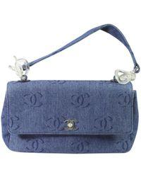 b822de962582 Chanel Gabrielle Blue Denim - Jeans Handbag in Blue - Lyst