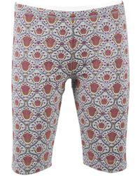 Louis Vuitton - Blue Polyester Shorts - Lyst