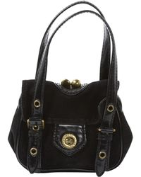 Marc Jacobs - Black Suede Handbag - Lyst