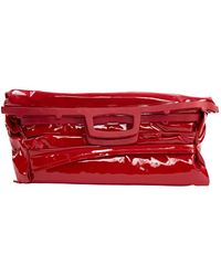Maison Margiela Red Patent Leather Clutch Bag