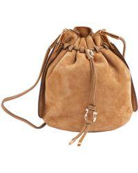 Ferragamo - Camel Suede Handbag - Lyst