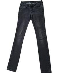 Maje - Grey Cotton - Elasthane Jeans - Lyst
