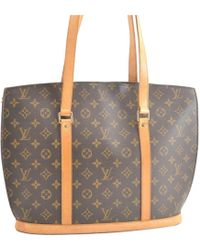 Louis Vuitton - Pre-owned Vintage Babylone Brown Cloth Handbags - Lyst