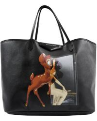 cf3c923b4f Givenchy Stargate Bambi Medium Tote Calfskin Black in Black - Lyst