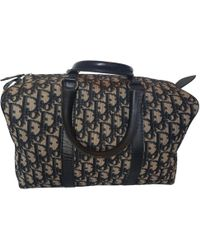 Dior - Vintage Blue Cloth Travel Bag - Lyst
