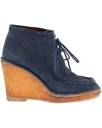 Marc By Marc Jacobs - Pre-owned Navy Suede Boots - Lyst