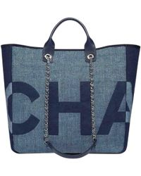 Chanel - Deauville Cloth Tote - Lyst