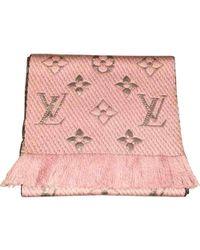 4856f66a9a9c Louis Vuitton - Echarpe Logomania en laine - Lyst