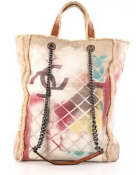 Chanel - Pre-owned Graffiti Cloth Handbag - Lyst