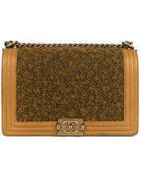 baeb95c53b4c Lyst - Chanel Tweed Handbag in Pink