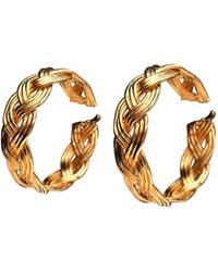 Lanvin - Pre-owned Vintage Gold Metal Earrings - Lyst