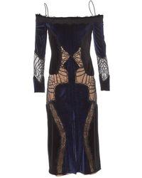 Jonathan Simkhai - Pre-owned Navy Velvet Dresses - Lyst