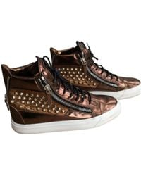 Giuseppe Zanotti - Pre-owned Leather High Trainers - Lyst