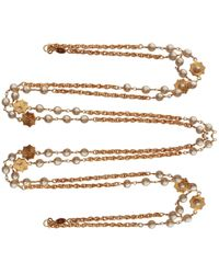 Chanel - Pre-owned Long Necklace - Lyst