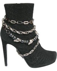 Philipp Plein - Black Exotic Leathers Ankle Boots - Lyst