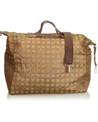 Chanel - Vintage Brown Cloth Travel Bag - Lyst