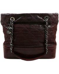 Chanel - Gabrielle Burgundy Leather - Lyst