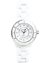 Chanel - Pre-owned J12 Automatique White Ceramic Watches - Lyst