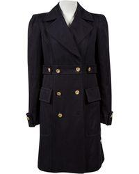 Stella McCartney - Navy Cotton Coat - Lyst