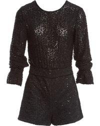 Maje - Black Polyester Jumpsuits - Lyst