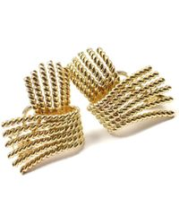Tiffany & Co. - Schlumberger Yellow Yellow Gold Earrings - Lyst
