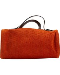 Céline - Orange Suede - Lyst