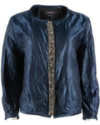 Isabel Marant - Navy Silk Jacket - Lyst