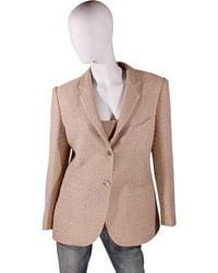 Chanel - Beige Viscose Jacket - Lyst