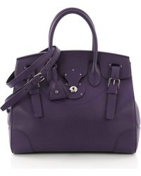 Ralph Lauren Collection - Pre-owned Ricky33 Purple Leather Handbags - Lyst 377d060ed1591