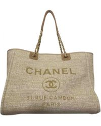 Chanel - Deauville Tweed Tote - Lyst