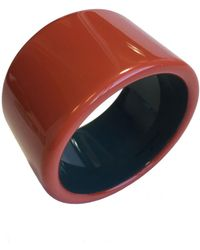 Hermès - Orange Wood Bracelet - Lyst
